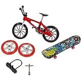 KT Toy Set Finger Bike & Planche à roulettes avec Skate Accessoires Set