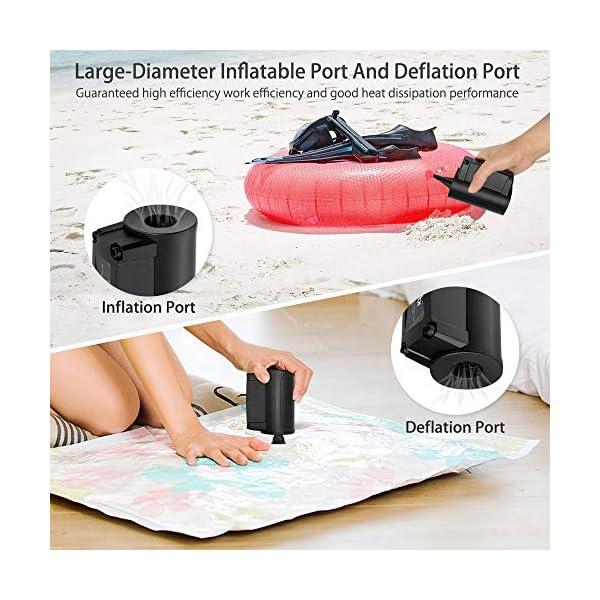 VEEAPE Bomba de Aire eléctrica, Bombas de inflado/deflactor de llenado rápido portátiles para Anillo de natación, Barcos… 2