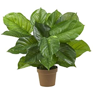 Nearly Natural Nearly Natural Large Leaf Philodendron Decorative Silk Plant Green 1