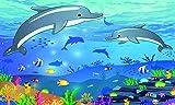 printsupply Handtuch, Strandtuch, Saunatuch, Strandtuch mit Motiv Delfin, schönes Geschenk für Kinder (1500 x 1000mm)