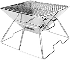 CARBABY 烧烤炉 篝火台 户外炉 折叠 烧烤炉 1台两用 2-4人用 不锈钢 尺寸:31厘米×31厘米×20厘米