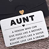 Aunt Christmas Gifts Wallet Card Inserts for Auntie from Niece Nephew to Aunt Valentine Birthday Gifts for Women Stocking Stuffer Mothers Day for Aunts Mini Love Note Reminder Thanksgiving to Aunt
