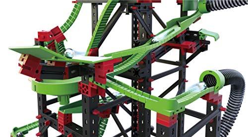 fischertechnik Kugelbahn Dynamic XXL mit einer einzigartigen Streckenlänge von 5,6m – 3 Modelle – Komplettset inklusive Motor, Rainbow-LED, Looping, Stop & Go, Wechselweiche für grenzenlosen Spielspaß - 5