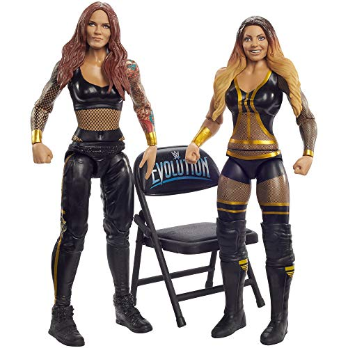 WWE Lita vs Trish Stratus Battle Pack Series #64 with Two 6-inch Articulated Action Figures & Ring Gear
