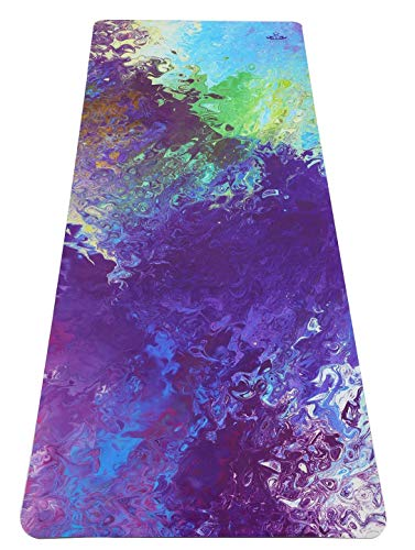 Heathyoga Synergy Yoga Mat Non Slip Hot Yoga Mat, Yoga Towel & Mat 2in1 Lightweight & Optimal Cushioning 72'x 26' Thickness 5mm