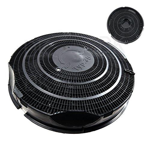 Universal Kohlenfilter Typ 30 Aktivkohle Filter Ø 24 cm AFC-30 geeignet für viele Dunstabzugshauben Backofen wie AEG, Electrolux, Juno, Bauknecht und Zanussi schwarz