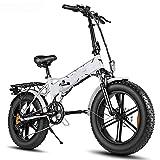 Bicicleta EléCtrica Plegable De 20 * 4.0 Pulgadas, Batería De 500w 48v12.5a Bicicleta De Montaña Bicicleta De Nieve, para Entretenimiento para Adultos Y JóVenes