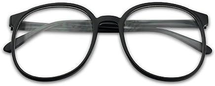 2f7e42f68ee SunglassUP - Over Sized Round Thin Nerdy Fashion Clear Lens Aviator Eyewear  Glasses