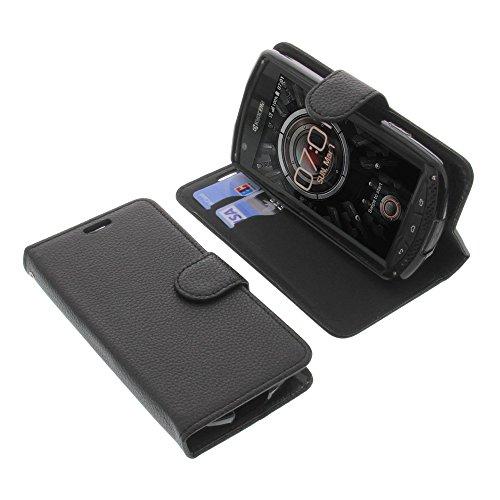 foto-kontor Tasche für Kyocera KC-S701 Torque Book Style schwarz Schutz Hülle Buch