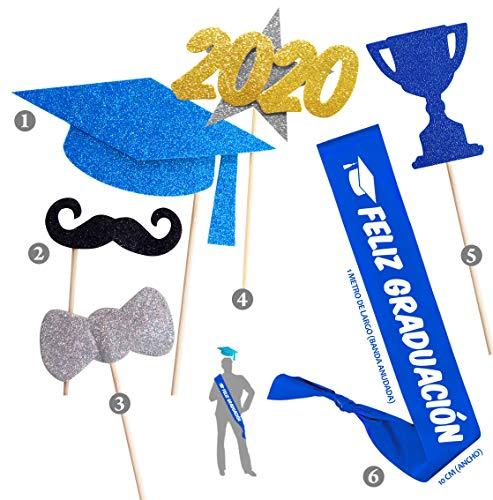 Inedit Festa Graduación 2020 Banda Honorífica Feliz Graduación y Selfie Photocall