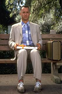 Forrest Gump Tom Hanks on Bench With Box of Chocolates 24x36 Poster