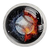 引き出しノブプルハンドル4個 クリスタルガラスのキャビネットの引き出しは食器棚のノブを引っ張る,野球の水火