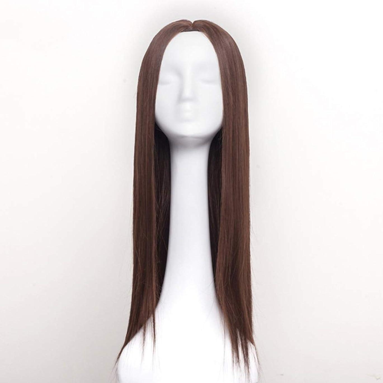 興奮する差別するダルセットKerwinner レディースウィッグロングストレートヘアウィッグ合成耐熱女性ヘアスタイルカスタムコスプレパーティーウィッグ