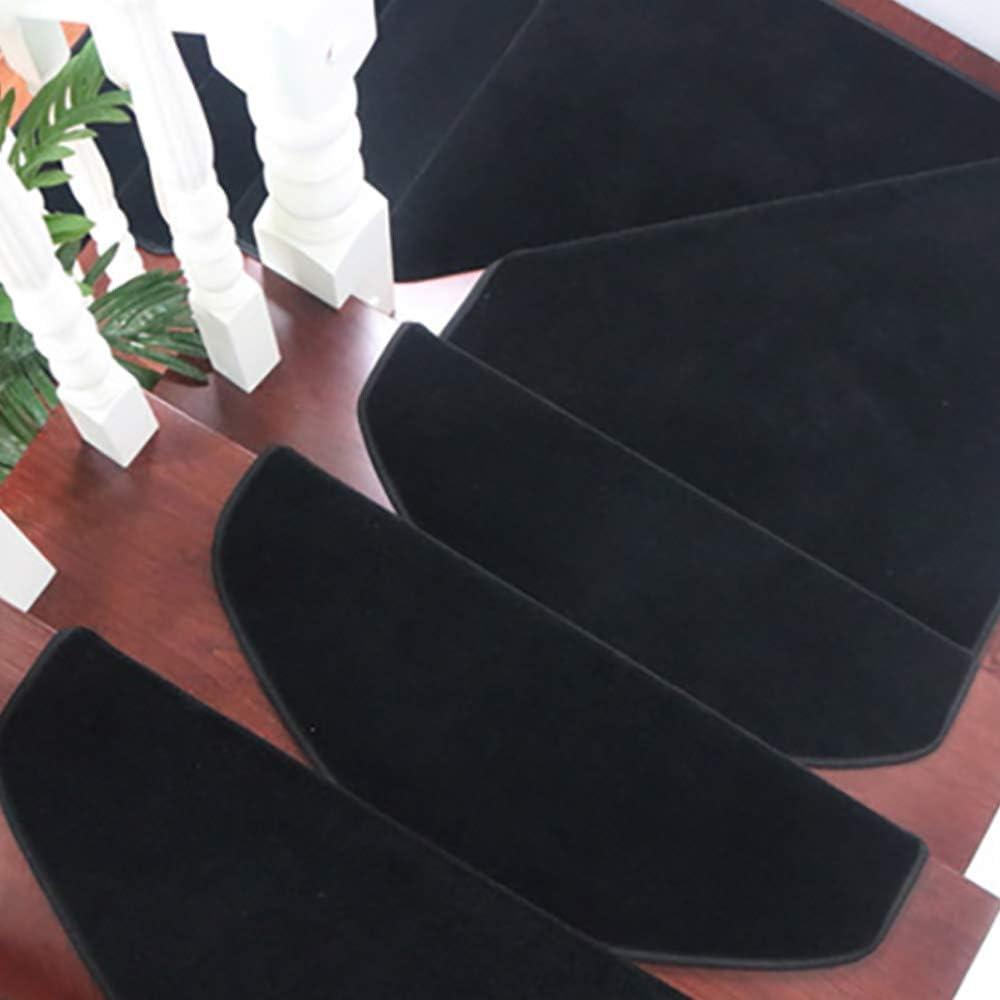 15pcs Stair Stepping Mat Glue-Free Self-Adhesive Non-Slip Stair Carpet Stair Mat Foot Mat Stair Pads Set Fuoliystep Stair Carpet Pads