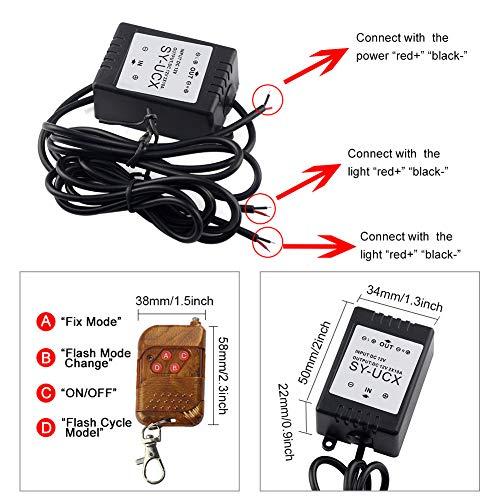 Cerlingwee Módulo de Control estroboscópico, ampliamente Utilizado, Hecho, Suficientemente Fuerte como Seguro para Usar en el hogar