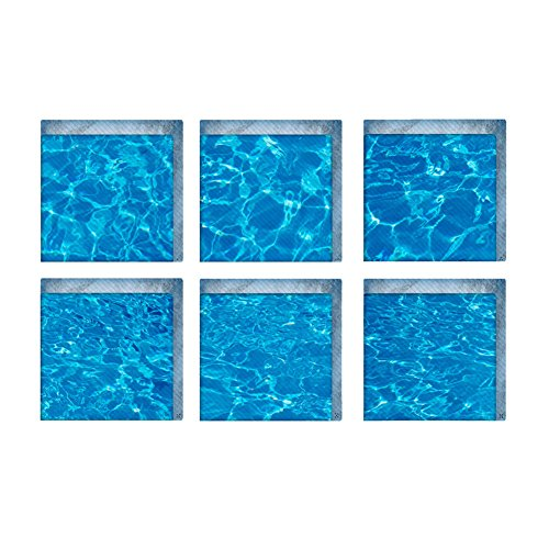 Bodhi2000 - Pegatinas para bañera (6 hojas, 3D, antideslizantes, resistentes al agua, antideslizantes, para añadir tracción antideslizante a bañeras y duchas)