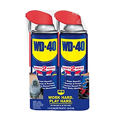 WD-40 490224 Multi-Use Product, 14.4 oz. Smart Straw Twin-Pack