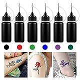 Encre Tatouage Temporaire, Tattoo Ink, Jagua Gel, Freehand Ink, Tatouage Temporaire, Temporary Tattoo Ink, Gel de Tatouage, Ink avec des Pochoirs de Tatouage Design Spécial.