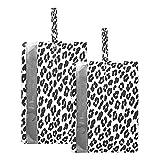 F17 Bolsas de viaje para zapatos con estampado de leopardo animal, bolsa de almacenamiento, impermeable, portátil, ligera, bolsa de almacenamiento para hombres y mujeres, 2 unidades