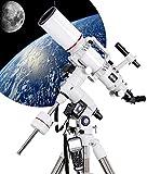 QQ HAO Kit Profesional De Telescopio Refractor De Observación De Estrellas En El Espacio Profundo De Alta Potencia Telescopio Astronómico Automático Acromático para Encontrar Estrellas