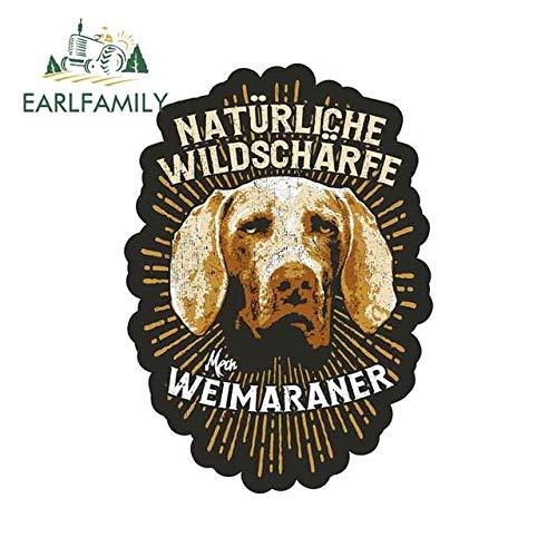 A/X Autoaufkleber 13 cm x 9,4 cm Weimaraner Hundezucht Jagdhunde Wachhunde Kreativer Aufkleber Vinyl Autoaufkleber Benutzerdefinierter Druck