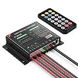 ALLPOWERS 20 A Panneau Solaire contrôleur de Charge IP68 étanche Régulateur Solaire avec Port USB, télécommande IR 12 V/24 V