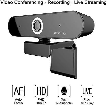 AXELEL Messa a Fuoco Automatica Webcam 1080P, Microfono con cancellazione del Rumore, Webcam Full HD per PC Laptop, USB Plug Play per Windows 10/8 / 7 Mac OS X, Autofocus grandangolare - Trova i prezzi più bassi