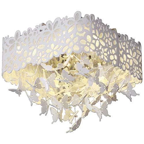 YANQING Duurzame Plafond Lichten Moderne Acryl Plafond Licht Vierkant Creatieve Vlinder Crystal Plafond Lamp Romantische LED Interieur Verlichting Plafond Lichten (Kleur : Warm Licht)