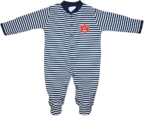 Auburn University Tigers Striped Footed Baby Romper