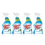 Glass Plus Glass Cleaner, 32 fl oz Bottle, Multi-Surface Glass Cleaner (Pack of 4)