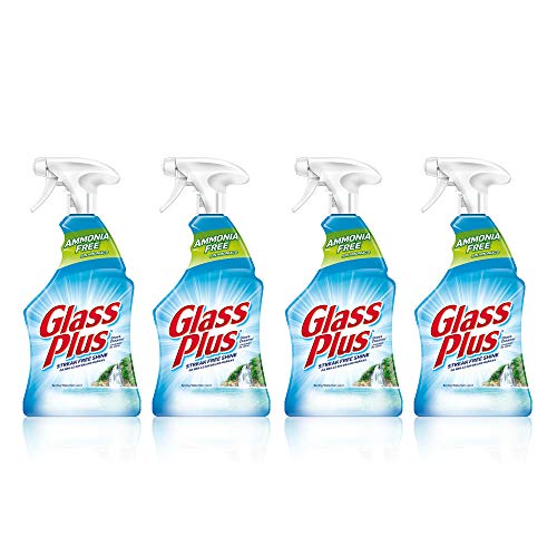 Price comparison product image Glass Plus Glass Cleaner,  32 fl oz Bottle,  Multi-Surface Glass Cleaner (Pack of 4)