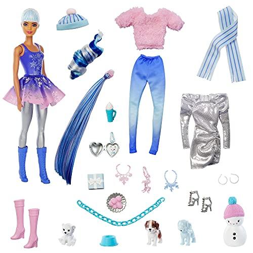 Barbie Color Reveal, muñeca que revela sus colores con agua, incluye ropa y accesorios de juguete (Mattel HBT74)