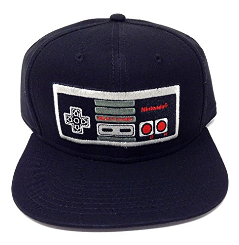 Black Nintendo NES Controller Snapback Cap Hat