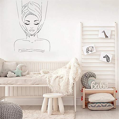 Salón de belleza extraíble spa logo cara material etiqueta de la pared vinilo etiqueta de la pared arte de vinilo