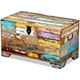 vidaXL Coffee Table Organizer Box Storage Trunks Large Wooden Chest,Decor Living Room,Modern Farmhouse Storage Chest for Clothes, Magazines, Books, Toys, Tools Storage 28.7 x 15.4 x 16.1 inch