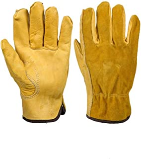 FJFSC Welding Flame Retardant Protective Fireplace Gloves/Heat Resistant Wear-Resistant Mechanical Non-Slip Gloves Safe an...