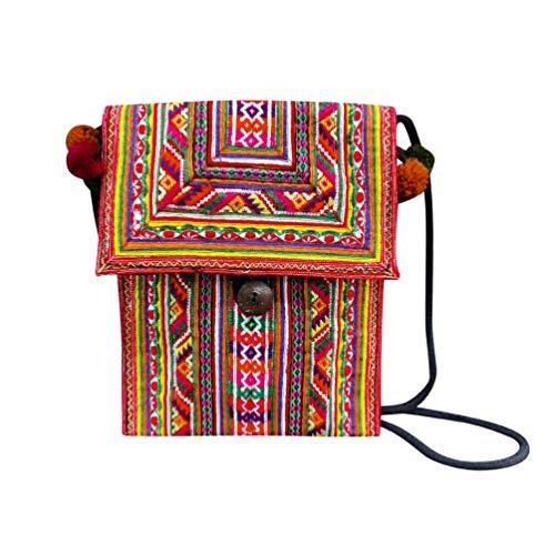 Interact China Bolso Bandolera Para Mujer Saddle Bag Estilo Hippie Bolso Tribal Hmong Miao 100% Bordado A Mano 111