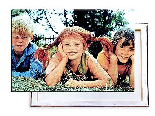 Unified Distribution Pippi Langstrumpf - 60x40 cm Kunstdruck auf Leinwand • erstklassige Druckqualität • Dekoration • Wandbild