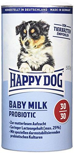 Happy Dog 02934 Welpenmilch - Supreme Young Baby Milk Probiotic - Für mutterlose Welpen-Aufzucht - 500g Inhalt