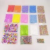 Pennytupu - Lote de 17 cuentas de perlas de fishbowl, bolas de espuma, bordes de frutas, para manualidades, arcilla flexible, decoración en casa