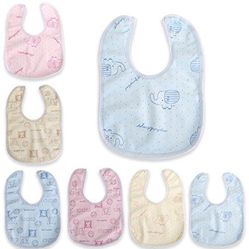 Fogun - Babero de terciopelo para bebé, impermeable, estilo