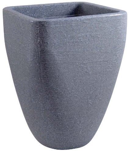 Fiskars UK Limited ebertSankey Pot à Fleurs Haut carré et Base Ronde Granite 33 x 46 cm