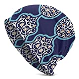 Lsjuee Unisex Soft Slouchy Beanie Knit Sombreros Estilo bohemio Long Baggy Skull Cap Invierno Verano Ski Baggy Hat Negro