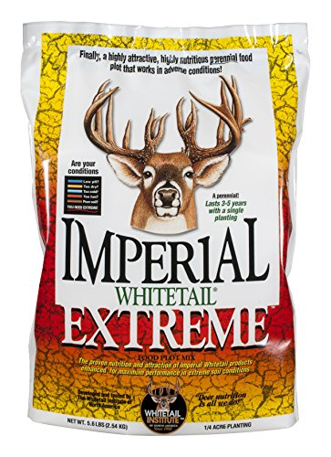 Whitetail Institute Extreme Deer Food Plot Seed, Perennial Seed Blend Designed for Poor Soil or Low Water Conditions, Highly Nutritious and Attractive to Deer