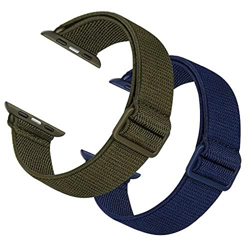 AFERIY Correa de nailon ligera compatible con Apple Watch, 44 mm, 42 mm, 40 mm, 38 mm, correa de repuesto para Apple Watch 6/iWatch Serie 6/5/4/3/2/1/SE, (38 mm, 40 mm).