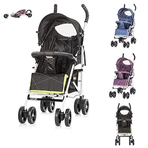 Poussette Chipolino Buggy Sisi Collection 2018, Buggy, dossier réglable, Farbe:noires