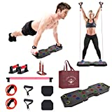 GYM SQUARE: Multi-function PushUp Board, Bar Set Home Gym...