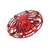 XIWAN UFO Jouets Volants Mini Heliball RC vol Hand Ball contrôlée Drone Volant Orb Infrarouge à Induction Hover 360 Whirlyball avec lumières Volant Jouet (Color : Red)