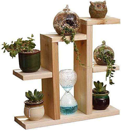 JinSui Porte Plante Flower Rack en Bois Massif Bureau Supports for Plantes Petit Multi-Niveaux Simple Bureau Succulentes Rack Exterieur