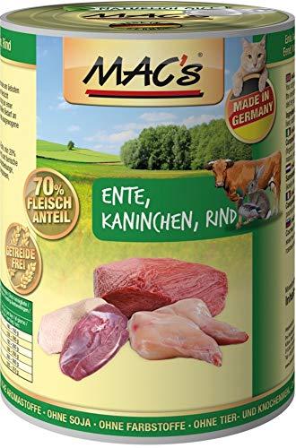 Ente, Kaninchen & Rind 6 x 400 g